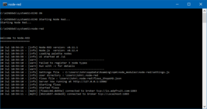 Node Red command prompt